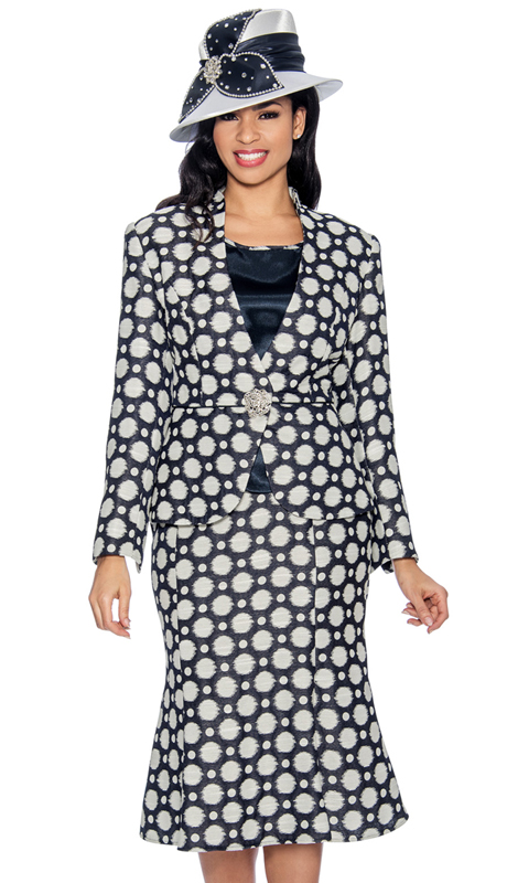Giovanna G1053-NW-220 ( 3pc Novelty Ladies Suit In Unique Polka Dot Print )