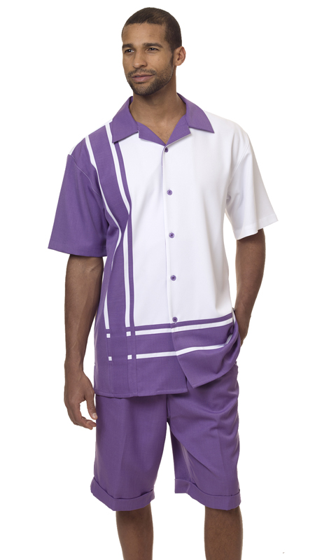 Montique 7877 ( 2Pc Men Walking Suit Short Sets )