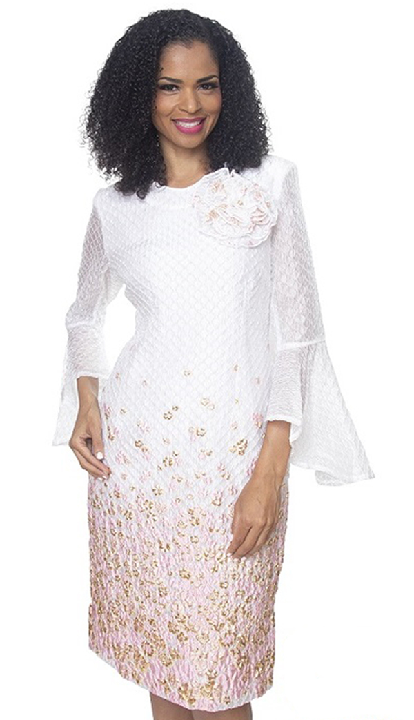 Dianna Couture 8503-WP ( 1pc Novelty Womans Dress For Church )