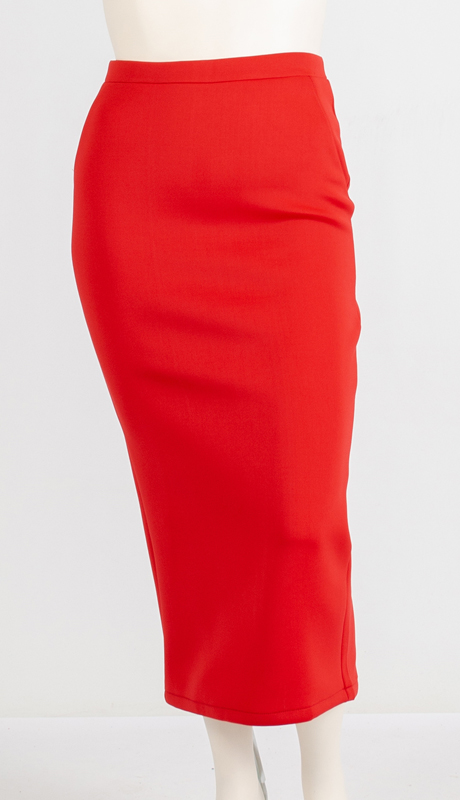 N By Nancy Collection A1753 ( 1pc Pencil Scuba Skirt )