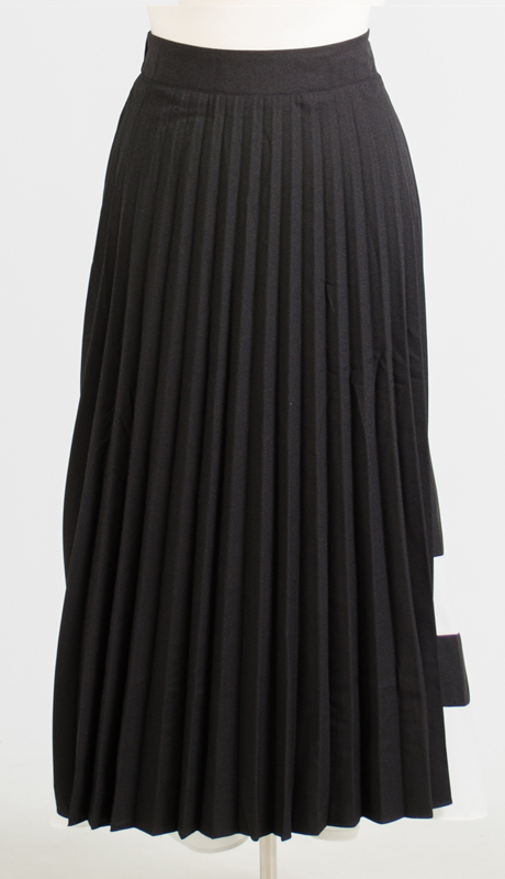 N By Nancy Collection 2032-BW ( 1pc Pleated Striped Skirt )