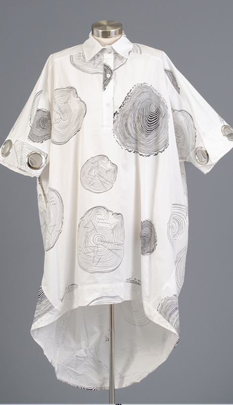 N By Nancy Collection W861-WB ( 1pc Grommet Sleeve Print Tunic Top )