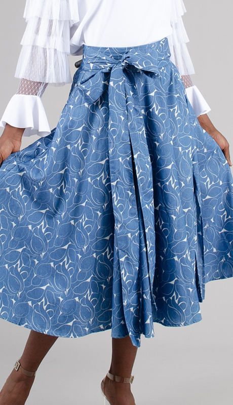 N By Nancy Collection HD019-BL ( 1pc Print Full Skirt )
