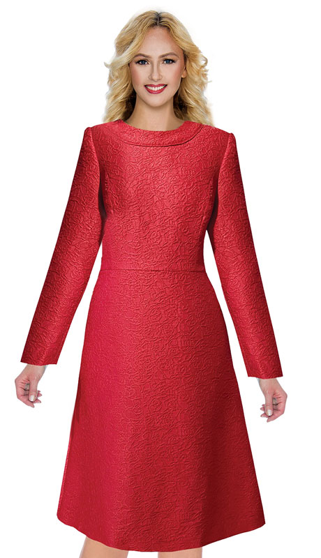 Giovanna D1521-RE ( 1pc Jacquard Dress )