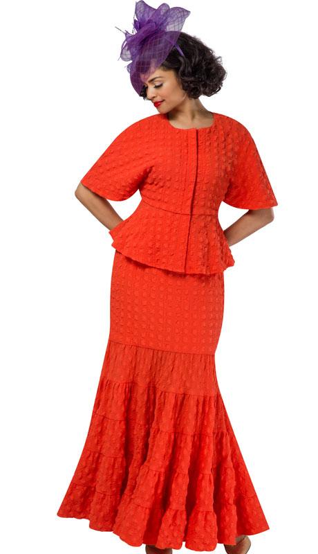 Giovanna 0942-CO ( 2pc Popcorn Short Sleeve Peplum Top And Skirt Set )