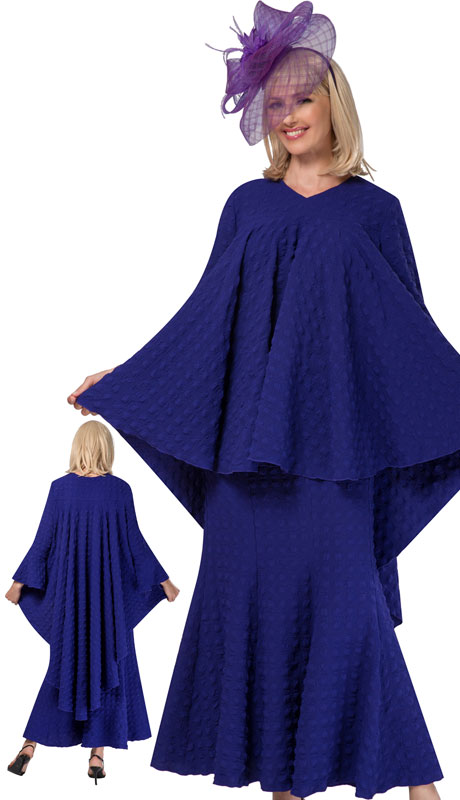 Giovanna 0941-PU ( 2pc Washable Popcorn Full Flare Top And Skirt )