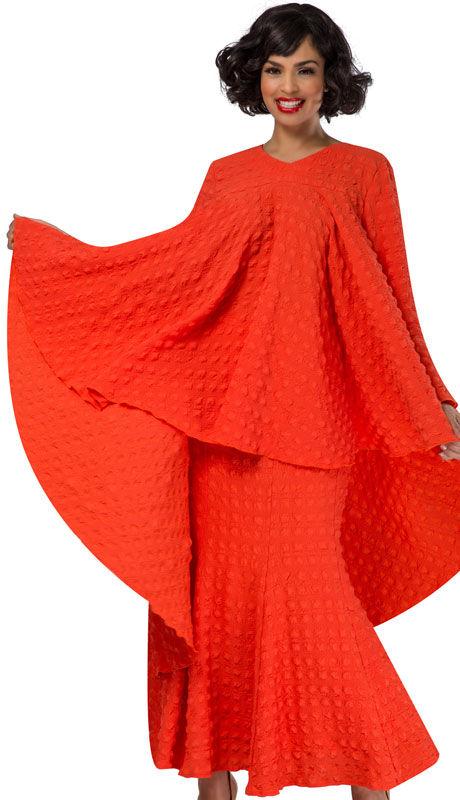 Giovanna 0941 ( 2pc Washable Popcorn Full Flare Top And Skirt )