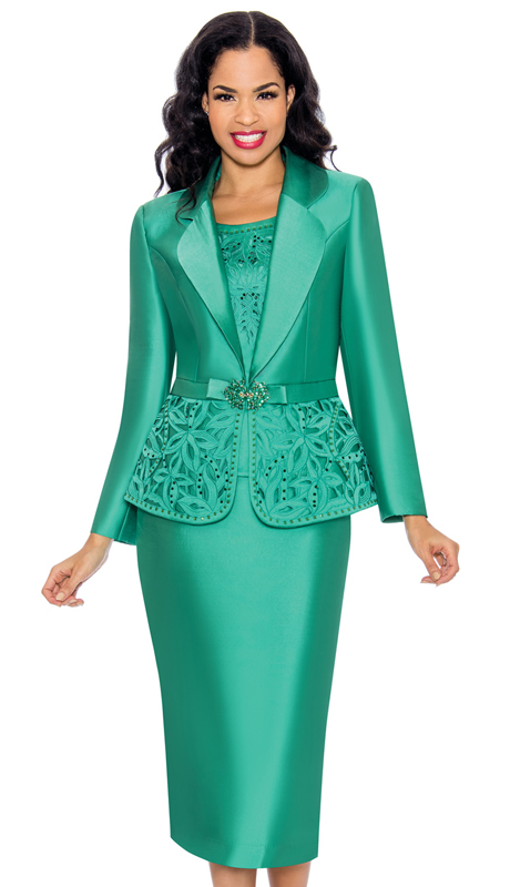 Giovanna G1074-AG ( 3pc Ladies Silk Look Church Suit With Sequin Trim And Cut Out Detail On Cami And Jacket )