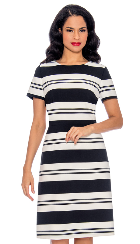 Giovanna D1512 - BL ( 1pc Stripe Design Dress )