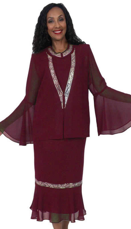 HD Couture 5044 ( 3Pc Fully Lined Georgette Suit With Embellished Jacket  And Elastic Waistband )