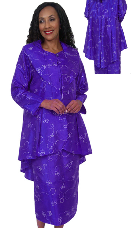 HD Couture 5061-P ( 2pc Fully Lined Novelty Suit With Embellished Jacket  And Elastic Waistband )