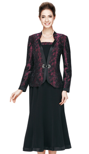 Nina Massini  2413-WI ( 3pc PeachSkin With Brocade First Lady Church Suits )