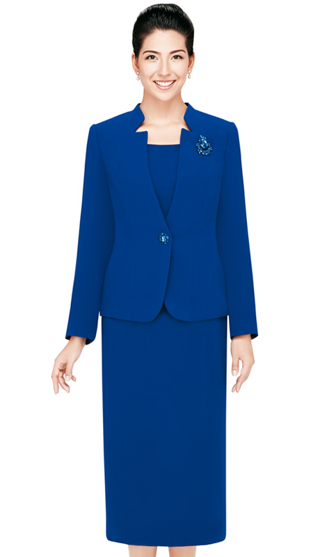 Nina Massini 2430-CO  ( 3pc Renova Ladies Church Suits With Pin Flower )