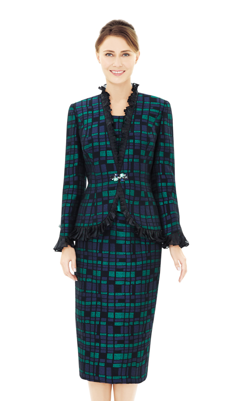 Nina Massini 2534-BG ( 2pc Novelty Sunday Suit )