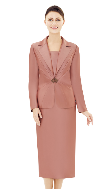 Nina Massini 2533-RO ( 2pc Silk Women's Sunday Suit )