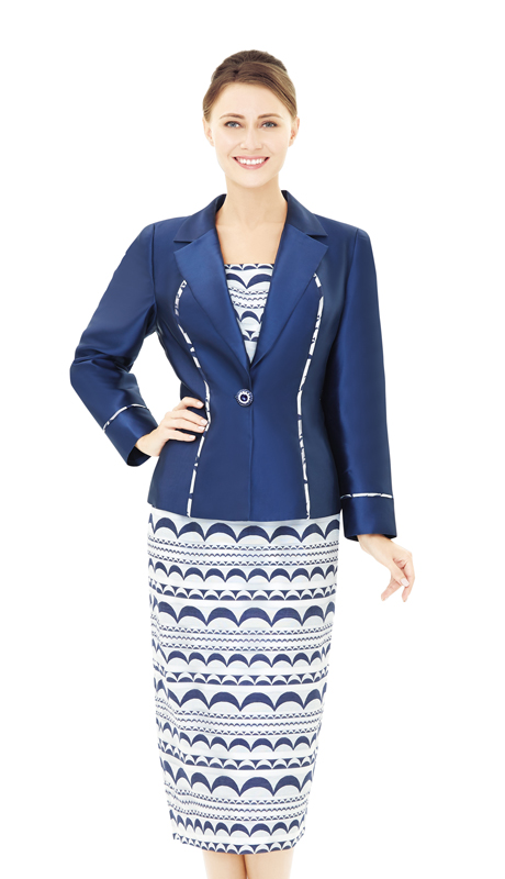 Nina Massini 2532-NA ( 2pc Novelty And Silk Women's Suit For Church )