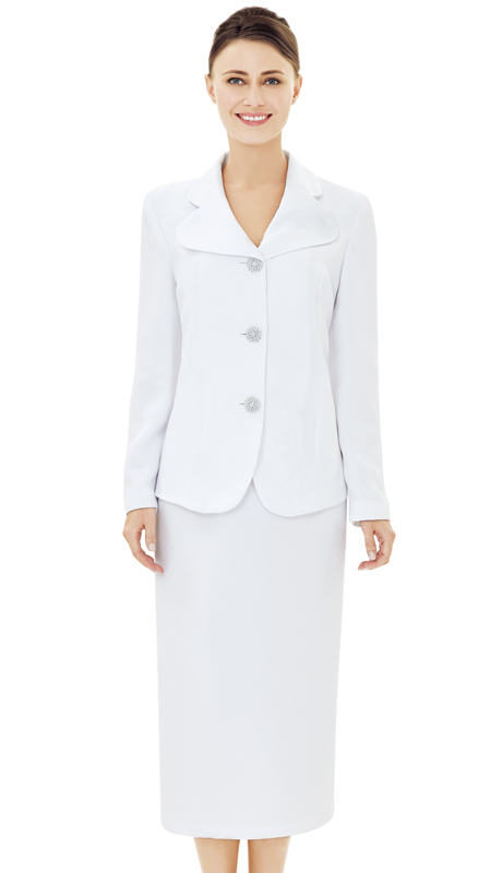 Nina Massini 2530-WH ( 2pc Renova Designer Church Suits For Women )