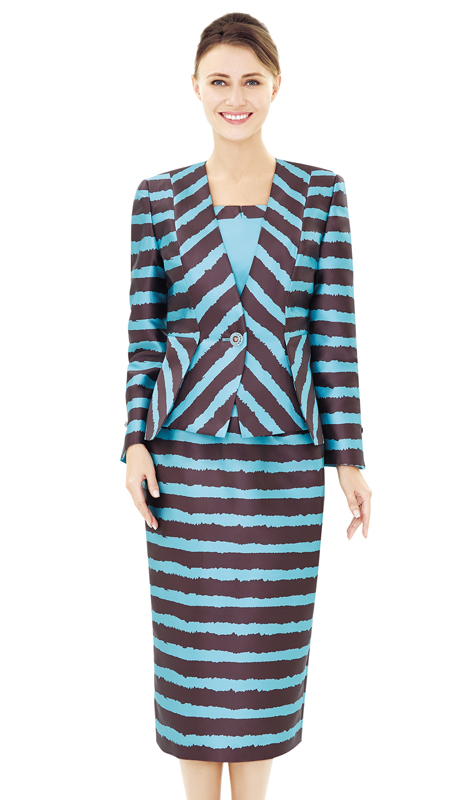 Nina Massini 2524-BB ( 2pc Silk Ladies Church Suit )