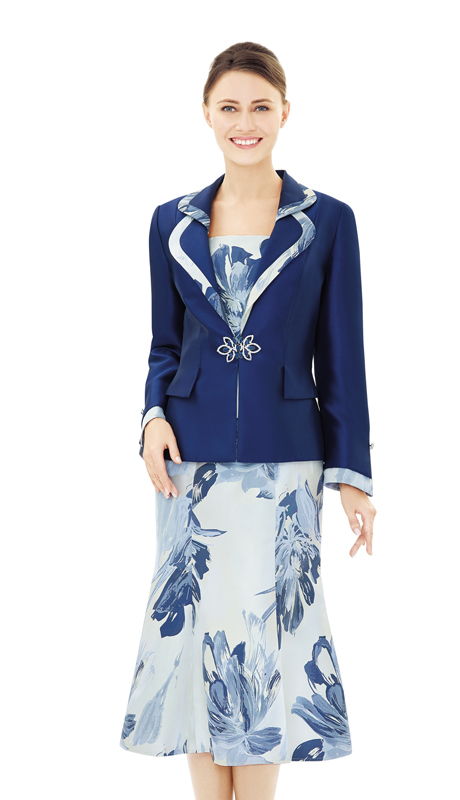 Nina Massini 2504-NA ( 2pc Novelty And Silk Ladies Church Suit )