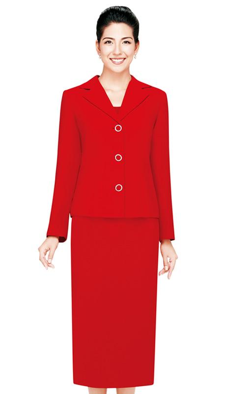 Nina Massini 2427  ( 3pc Renova  Women Sunday Suit  With Rhinestones Buttons )