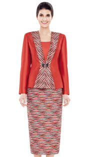 Nina Massini 2497 ( 3pc Silk Women's Church Suit )