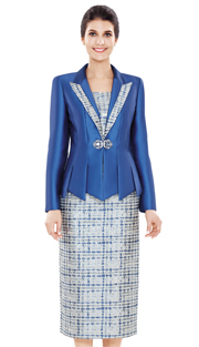 Nina Massini 2498 ( 3pc Silk Suit For Church )