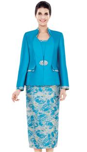 Nina Massini 2496 ( 3pc Silk Ladies Suit )