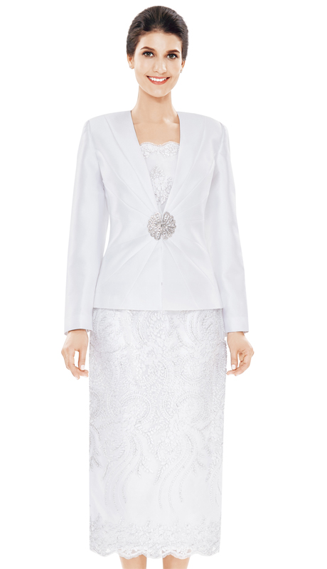 Nina Massini 2470 ( 3pc Lace With Silk Suit For Church )