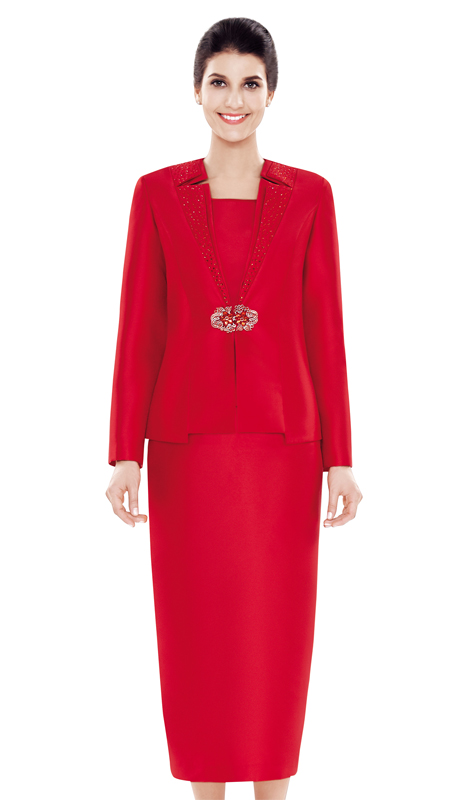 Nina Massini 2479 ( 3pc Silk Ladies Church Suit )