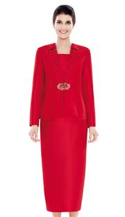 Nina Massini 2479 ( 3pc Silk Ladies Church Suit )