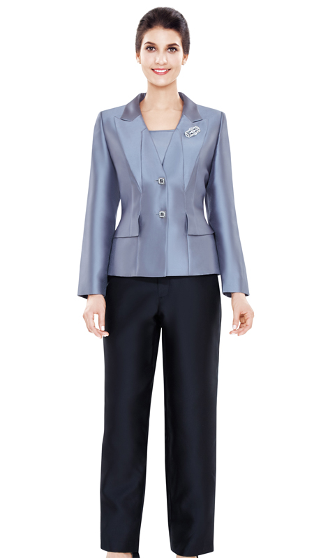 Nina Massini 2495 ( 3pc Silk Ladies Sunday Suit )