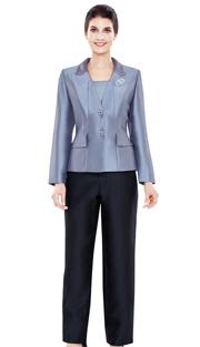Nina Massini 2495 ( 3pc Silk Ladies Sunday Suit )