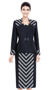 Nina Massini 2478 ( 3pc Silk Suit For Church )