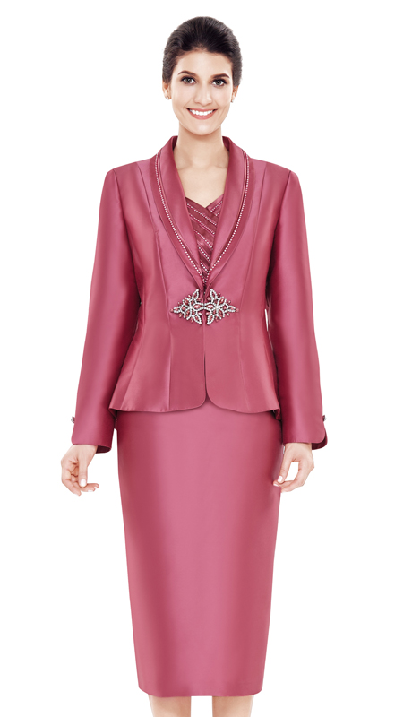 Nina Massini 2469 ( 3pc Silk Women's Church Suit )