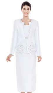 Nina Massini 2471 ( 3pc Silk Women's Sunday Suit )
