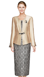 Nina Massini 2445 ( 3pc Women's Church Suit )