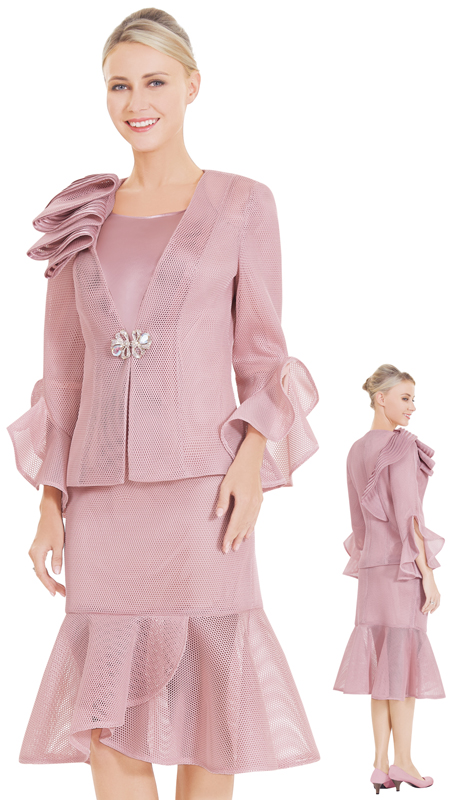 Nina Massini 2564 ( 3pc Novelty Ladies Church Suit )