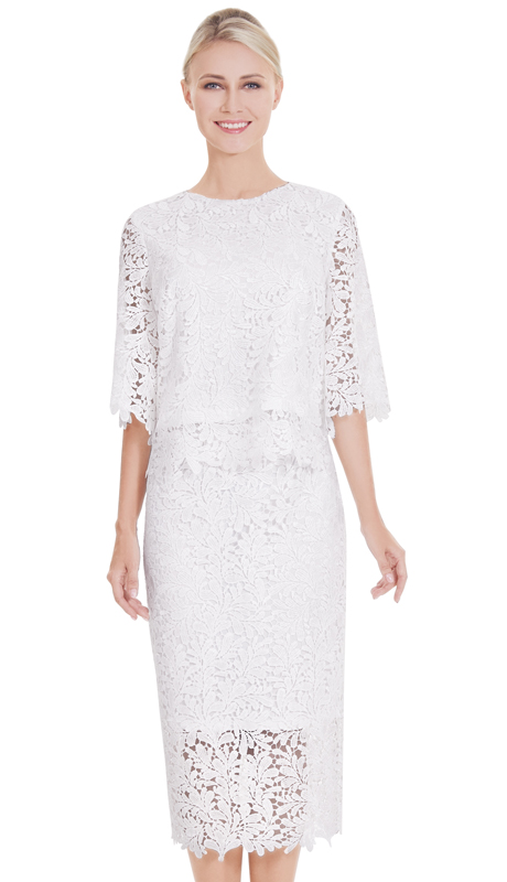Nina Massini 2573 ( 2pc Lace Suit For Church )