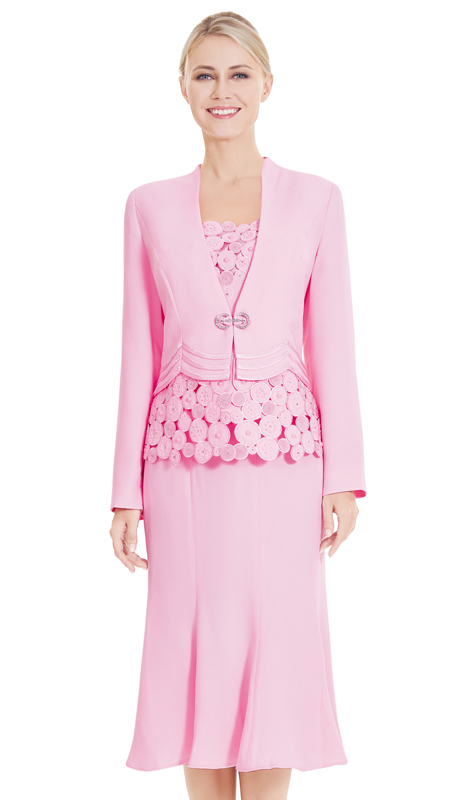 Nina Massini 2547 ( 3pc PeachSkin First Lady Suit )