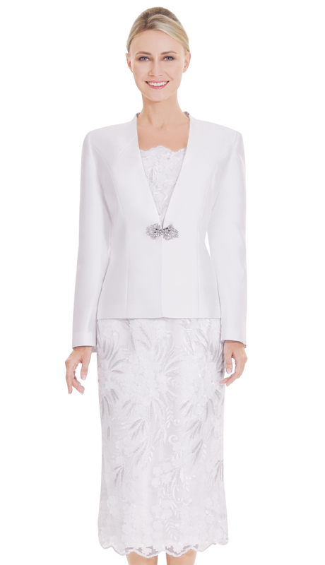 Nina Massini 2556 ( 3pc Lace And Silk First Lady Suit )