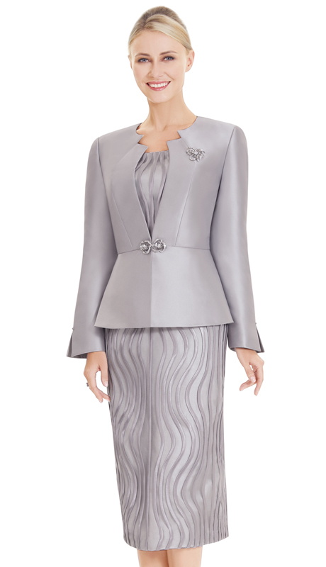 Nina Massini 2562 ( 3pc Lace And Silk First Lady Suit )
