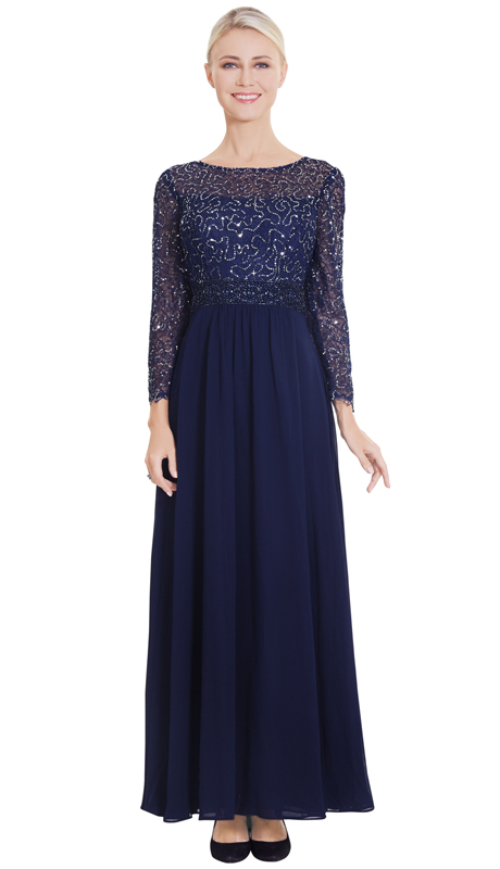Nina Nischelle 2868-NA ( 1pc Lace And Chiffon Gown )