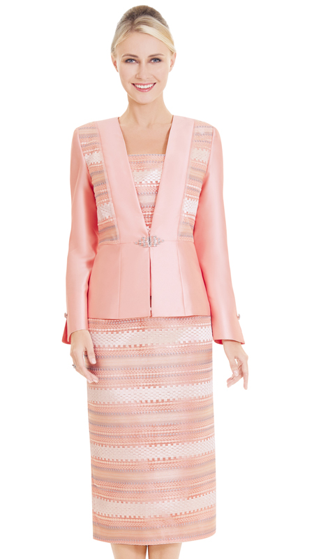 Nina Massini 2584 ( 3pc Novelty First lady Suit With Abstract Pattern )