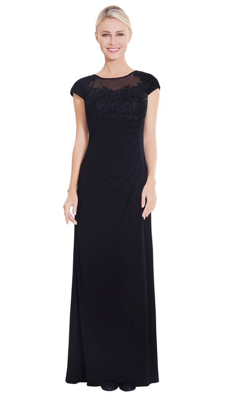 Nina Nischelle 2866-BK ( 1pc Lace And Julia Gown )