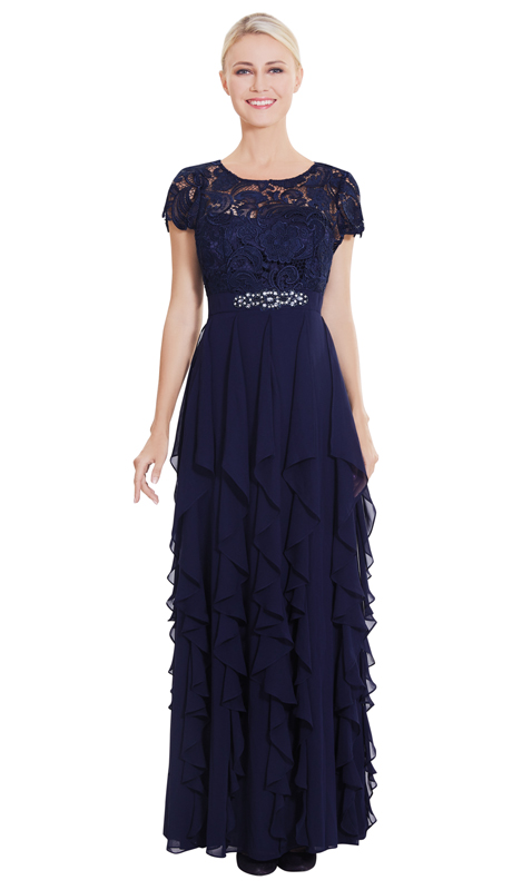 Nina Nischelle 2867 ( 1pc Lace And Chiffon Gown )