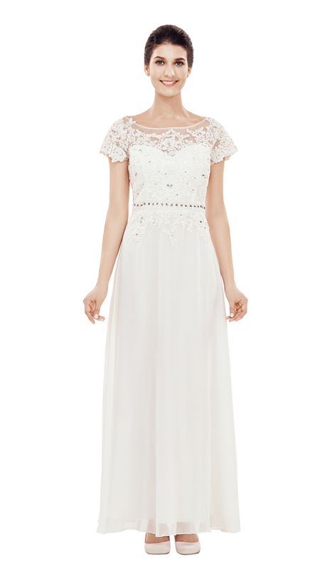 NN2827 ( 1 pc Lace And Silk Look Ladies  Dress By Nina Nischelle, With Sequin And Waist Detail For Mother of The Bride )