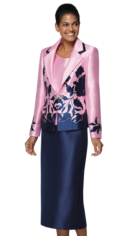 Nina Massini 3035-PN ( 3pc Silk Sunday Suit )