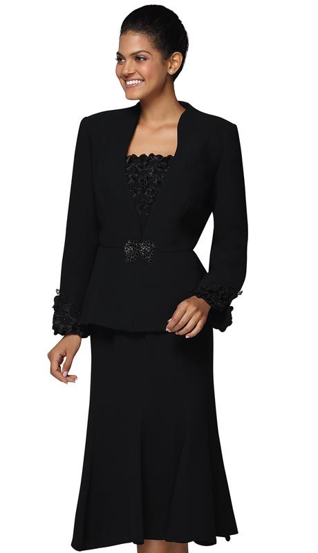 Nina Massini 3037 ( 3pc PeachSkin Ladies Church Suit )