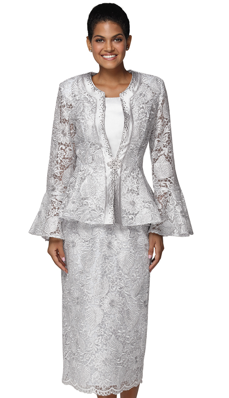 Nina Massini 3043 ( 3pc Lace Suit For Church )