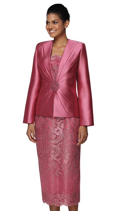Nina Massini 2470 ( 3pc Silk And Lace First Lady Suit )